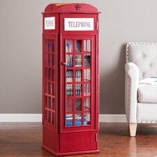 British Heritage Style Multimedia Storage Cabinet