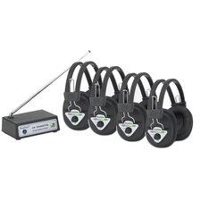 Multi Wireless Listening Center with 4 Headphones