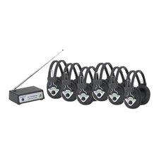 Multi Wireless Listening Center with 6 Headphones
