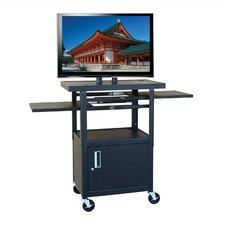 Flat Panel AV Cart with Locking Cabinet