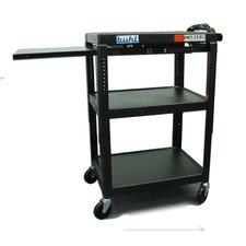 Height Adjustable AV Cart with 3 Stationary Shelves