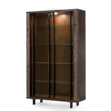 "Bina 76"" Bookcase with Glass Shelves"
