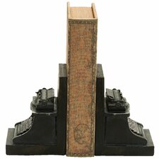 Old Look Typewriter Themed Book Ends (Set of 2)