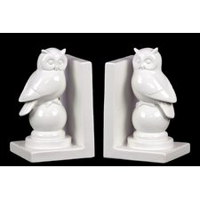 Immaculate Polished Owl Bookend (Set of 2)