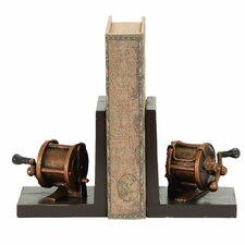 Fishing Reel Themed Book Ends (Set of 2)