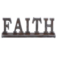 "Classic Table with Word ""Faith"" Letter Block"