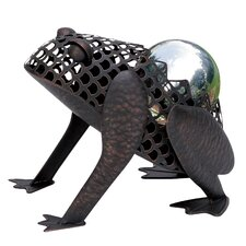 Frog with Decorative Ball Figurine