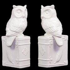 Ceramic Owl Bookend (Set of 2)