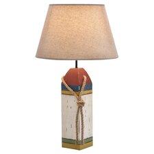 "Coastal Wooden Buoy 24"" H Table Lamp with Empire Shade"