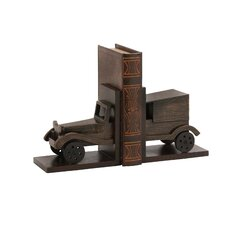 Classy Wood Car Book Ends (Set of 2)