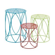 The Colorful 3 Piece Plant Stand