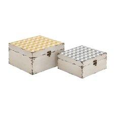 Colorful 2 Piece Square Box Set