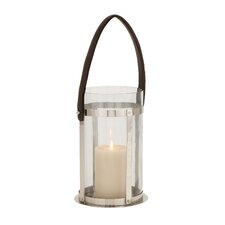 The Modern Stainless Steel Glass Leather Lantern