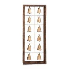 The Spiritual Wood Metal Bell Frame Wall Décor