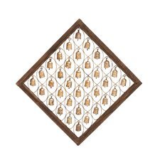 The Sacred Wood Metal Bell Frame Wall Décor