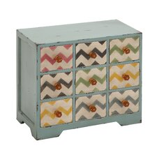 Contemporary Styled Wood Jewelry Chest