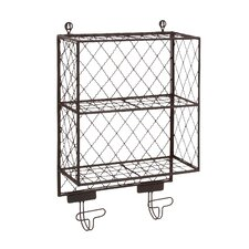 Attractive Metal Shelf with Hooks