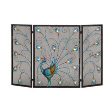 3 Panel Metal Fireplace Screen