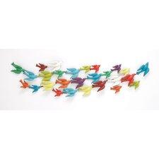 Colorful Metal Bird Wall Décor