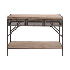 Perfect Wood & Metal Console Table