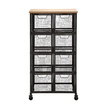 Organize with Metal & Wood Storage Cabinet