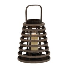 Attractive Wood Glass Lantern