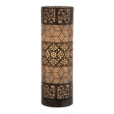 """Well Designed Cylinder 20"""" H Table Lamp with Drum Shade"""