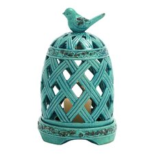 Graceful Zhangye Ceramic Birdcage Votive