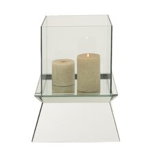 The Simply Wood Glass Mirror Candle Holder