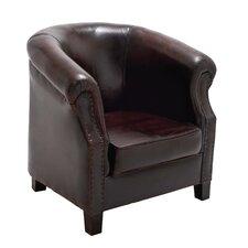 Cushy Wood / Leather Captians Arm Chair