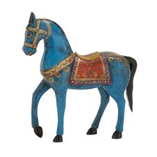 Exclusive Unique Styled Wood Painted Horse Figurine