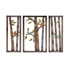 Attractive Styled Classy 3 Piece Metal Wall Plaque Set