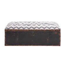Rustic Metal Fabric Strong Bench