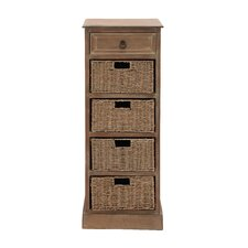 The Tall Wood Basket Accent Chest