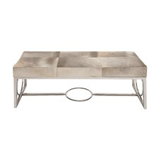 The Simple Stainless Steel Real Leather Entryway Bench