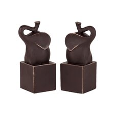 Trumpeting Elephant Bookends (Set of 2)