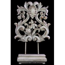 Magnificent and Majestic Floral Design Wooden and Resin Art Décor