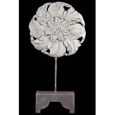 Beautifully Sculpted Flower and Petals Wooden and Resin Art Décor