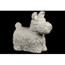 Charming, Cute and Fluffy Ceramic Dog Figurine