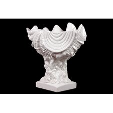 Beautiful and Elegant Trophy Modeled Ceramic Seashell Sculpture