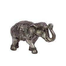 Beautifully Decorated Resin Elephant Figurine
