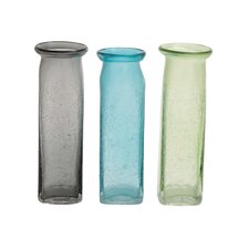 Simple Glass Vase (Set of 3)