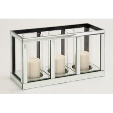 The Grand Wood Mirror Candle Holder