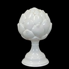 Decorative Elegant and Beautiful Ceramic Artichoke on Stand Sculpture