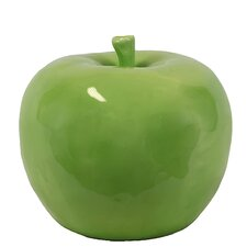 Decorative Lustrous and Glossy Ceramic Apple Sculpture