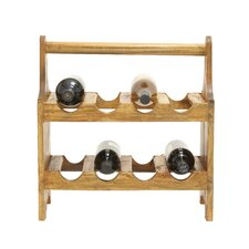 Useful and Cool 8 Bottle Tabletop Wine Rack