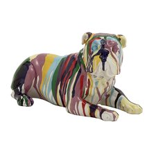 Cute and Colorful Polystone Bulldog Figurine