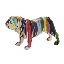 Beautiful & Colorful Bulldog Figurine