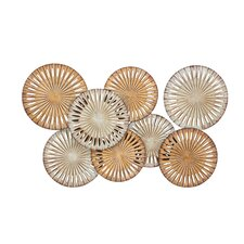 Gold & White Metal Wall Décor