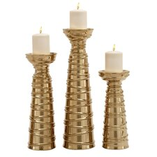 3 Piece Ceramic Candlestick Set